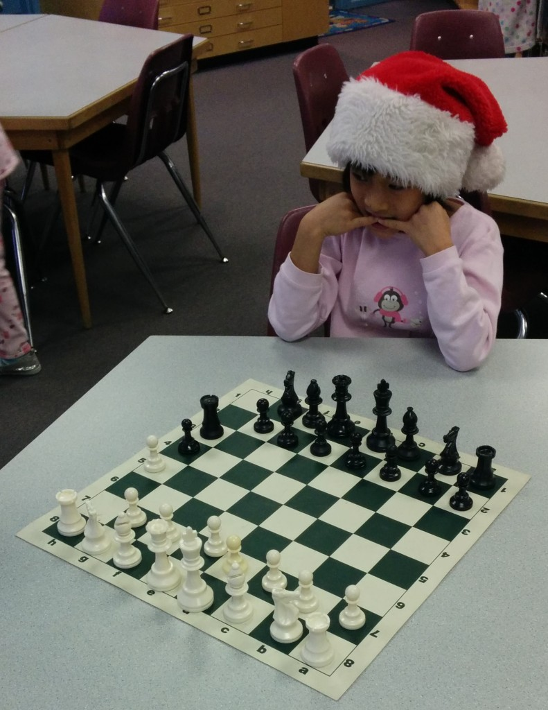 Chantrell students are great at chess.